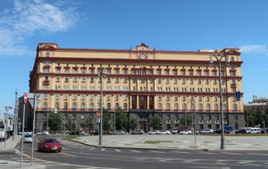 The notorious NKVD and KGB (today FSB, Federal Security Service) building on Moscow's Lubyanka Square. Some of the Czechoslovaks arrested between the 1920s and 1950s were investigated there. Pictured in 2018