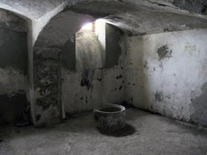 Basement of a former NKVD prison in Stryi, which hundreds of Czechoslovak citizens passed through during WWII. Several hundred people were executed there in summer 1941 during an evacuation following the German attack on the USSR