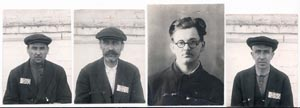 Czechs arrested by the OGPU (Joint State Political Directorate, precursor of the NKVD) in 1930–1931 and subsequently sentenced in Kharkiv in a trial of 37 Czech teachers. From left V. Pišl, J. Bouček, A. Vodseďálek, J. Heger