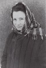 Žofie Malyljová, a former student at the Ukrainian grammar school in Prague's Modrany district, after being transferred from the Sevvostlag in Kolyma to the Ozerlag in 1955